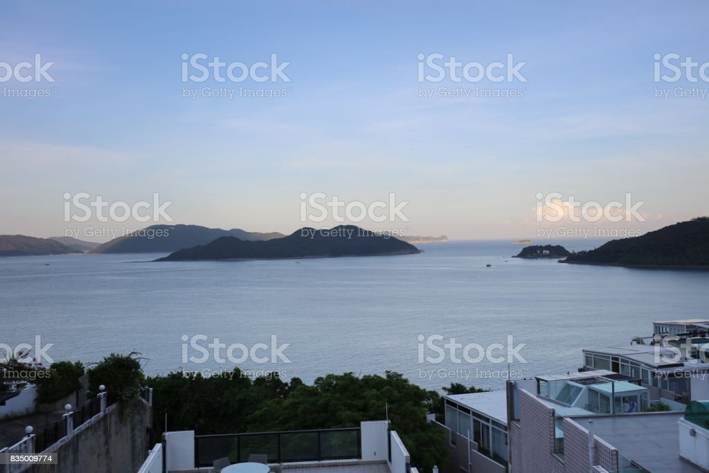 area of Silverstrand of sai kung hk stock photo