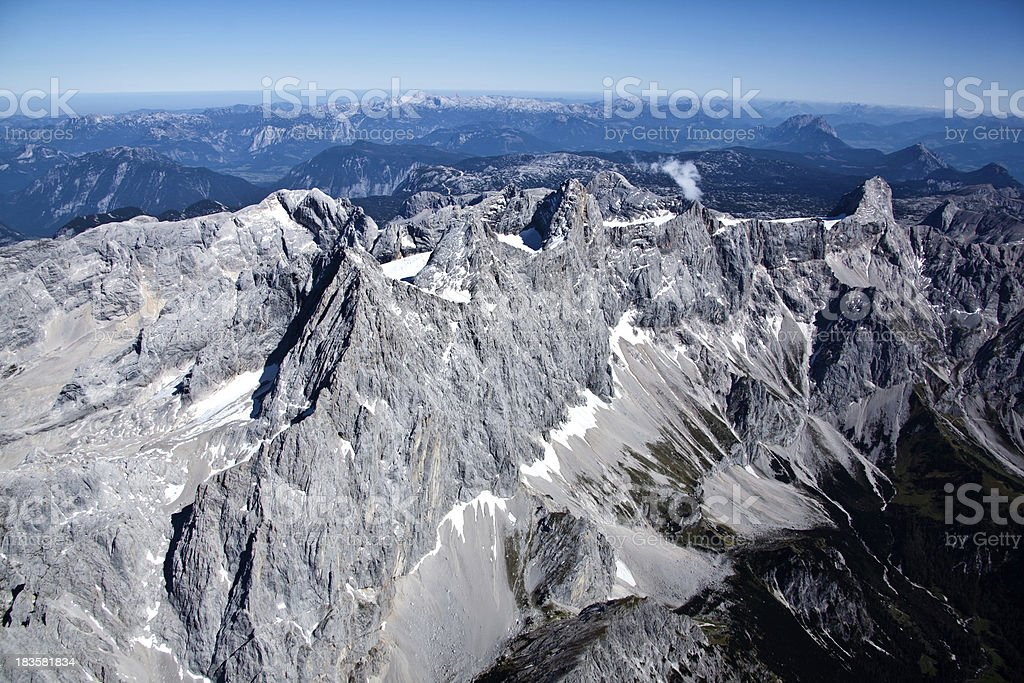 Areal shoot from Dachstein Austria stock photo