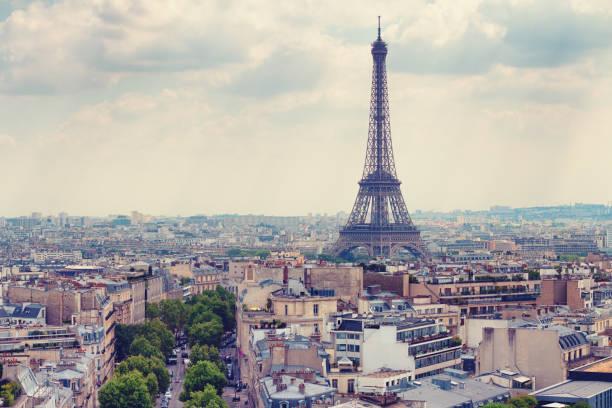Blick auf das Areal-Eiffelturm – Foto