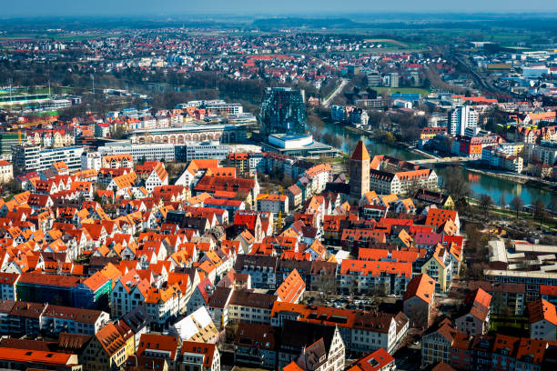 areal view of Ulm in Germany areal view of Ulm in Germany ulm stock pictures, royalty-free photos & images