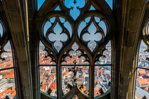 areal view of Ulm areal view of Ulm ulm minster stock pictures, royalty-free photos & images