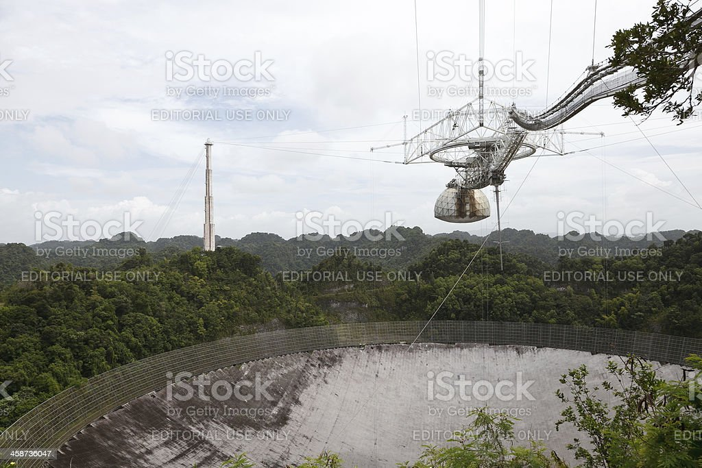 Arecibo Observatory stock photo