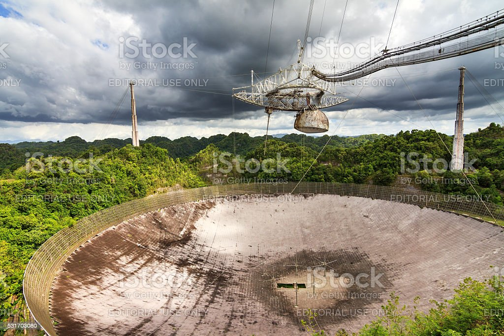 Arecibo Observatory Puerto Rico stock photo