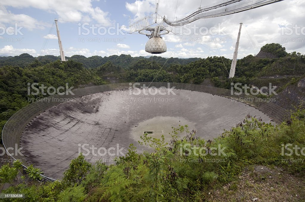 Arecibo Radio Telescope stock photo