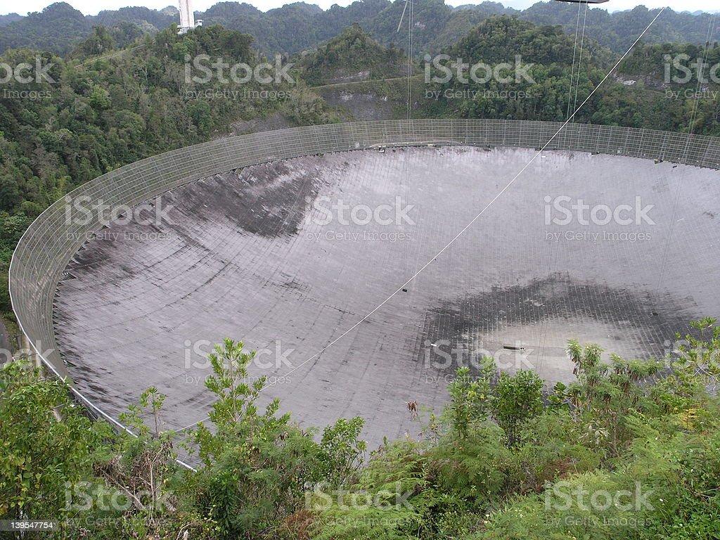 Arecibo Telescope 2 royalty-free stock photo