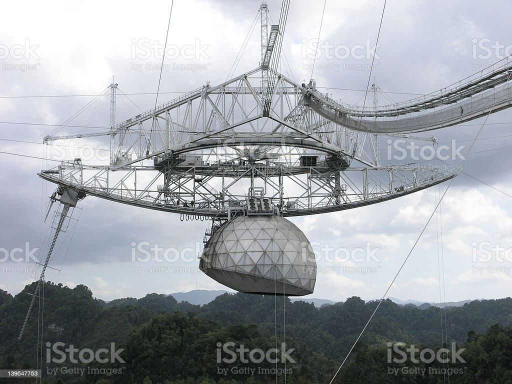 Arecibo Telescope stock photo