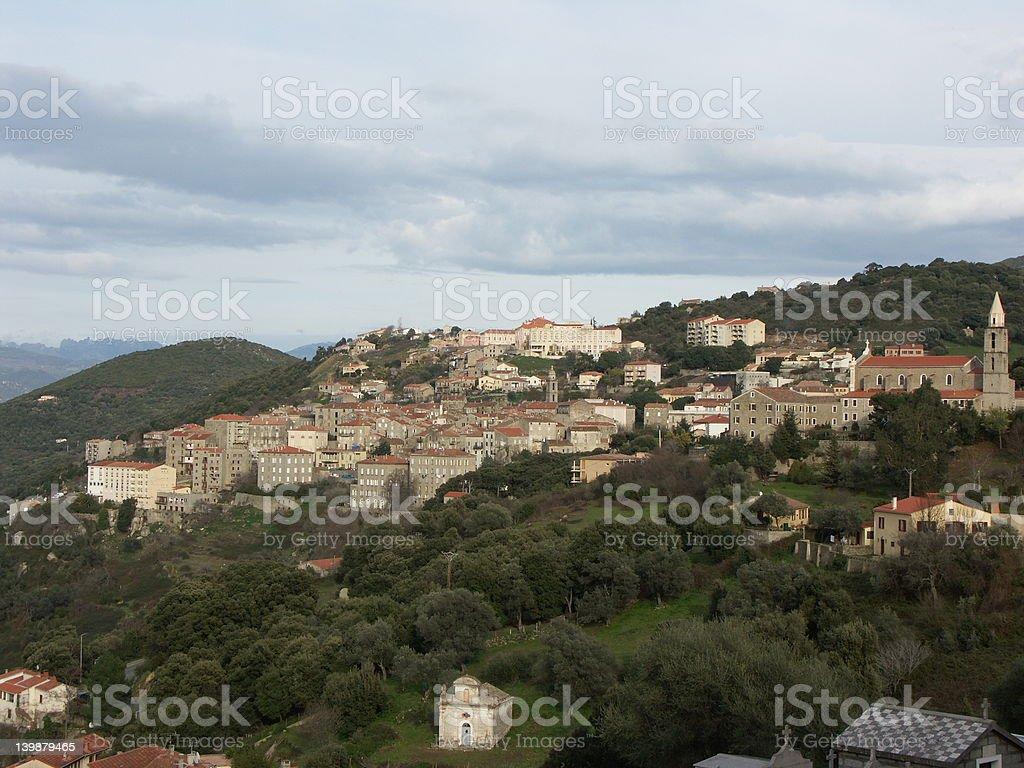 Aregno village in Balagne (Corsica) royalty-free stock photo