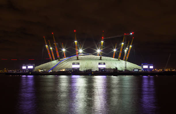 02 Arena at Night stock photo