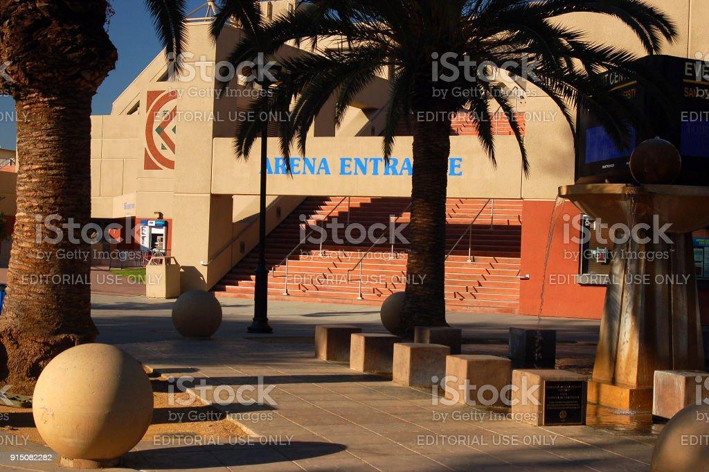 Arena Entrance at San Jose State University, California stock photo