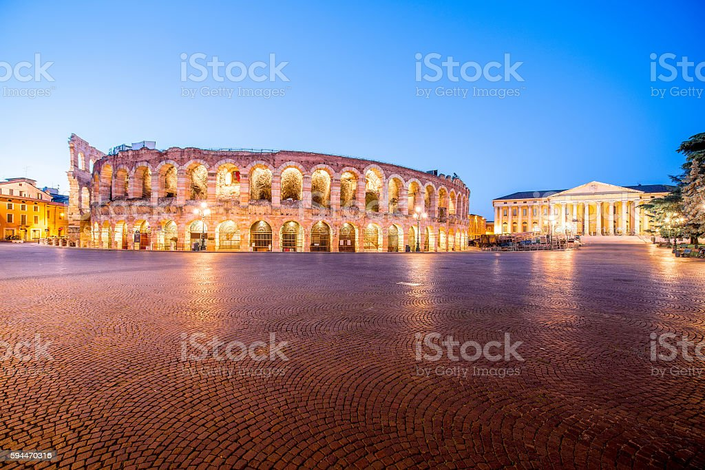 Arena in Verona city - foto stock