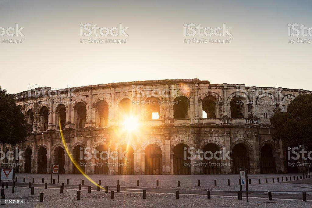 Arena of Nimes stock photo