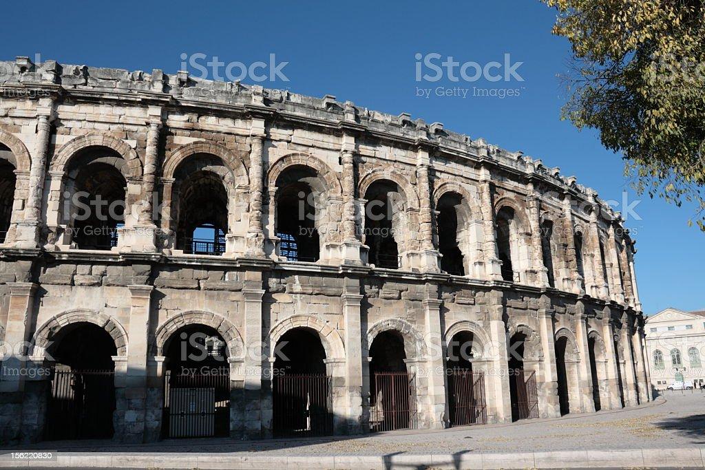 Arena of Nîmes stock photo
