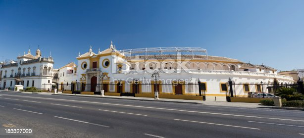 Panoramic view of the Arena in Seville, spain.