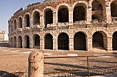 The Arena of Verona (Arena di Verona) is a Roman amphitheatre in Verona, Italy, which is internationally famous for the large-scale opera performances given there. It is one of the best preserved ancient structures of its kind