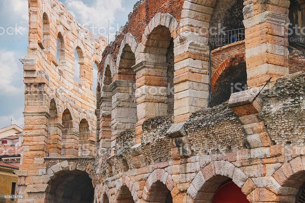 Arena di Verona-il luogo di annuale festival Opera - foto stock