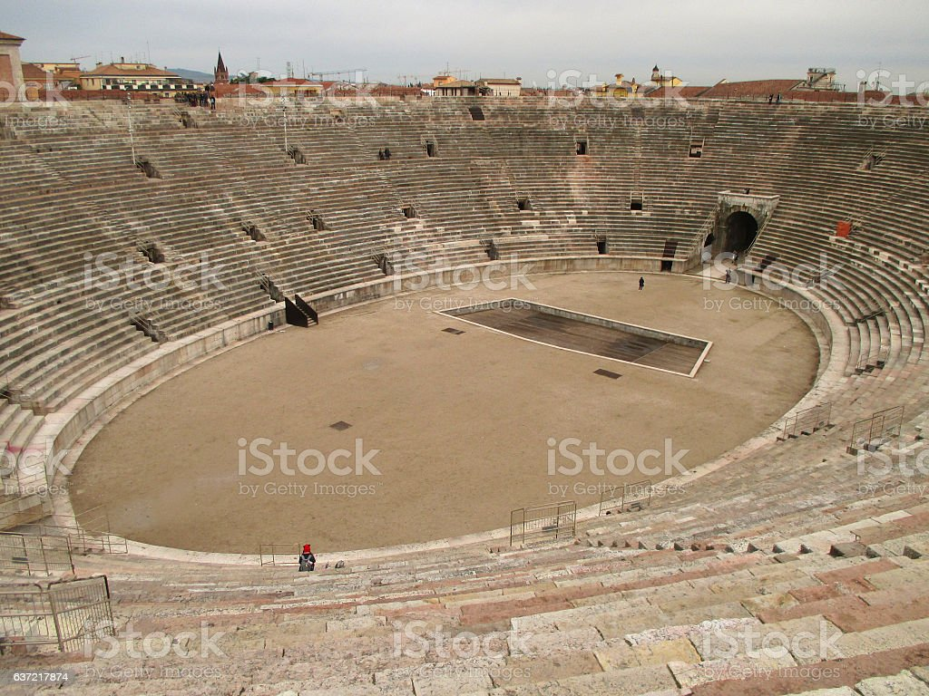 Arena of Verona, the Well Preserved Roman Amphitheatre in Verona - foto stock