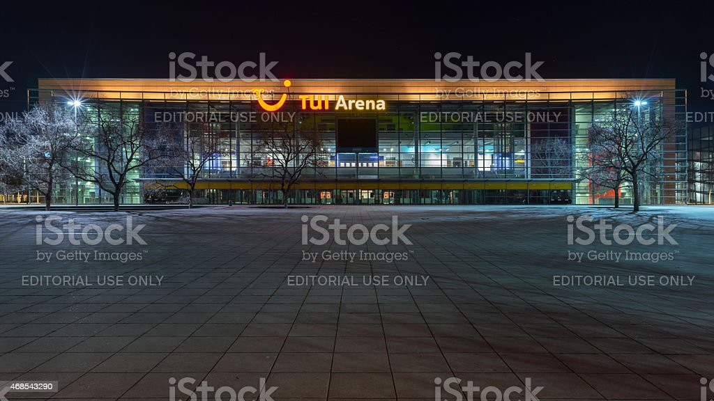 TUI Arena on EXPO PLaza in Hanover. stock photo
