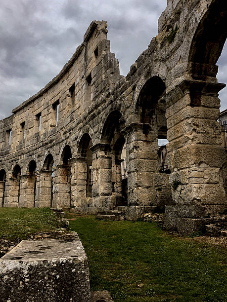Arena Pula, the Roman amphitheatre in Pula Croatia ストックフォト