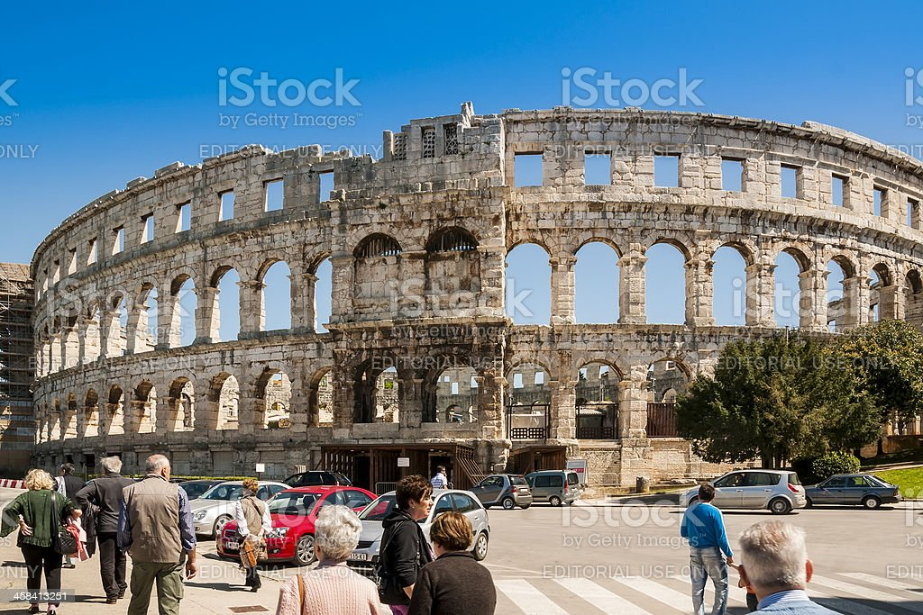 Arena, Roman Aphitheater in Pula, Croatia royalty-free stock photo
