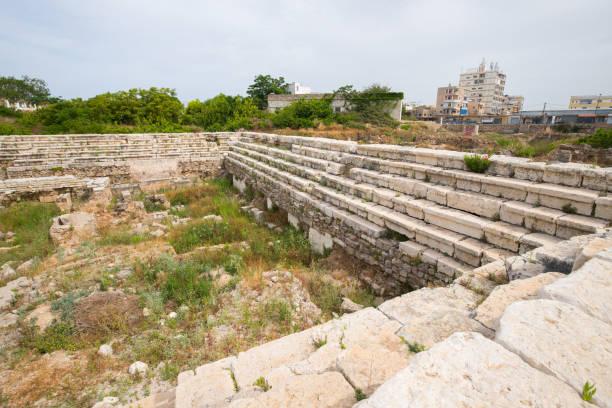 arena. Roman bleibt in Tyrus. Tyre ist eine alte phönizische Stadt. Tyre, Libanon – Foto