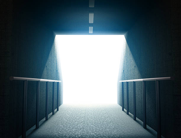 arena tunnel 3d - tunnel stock-fotos und bilder