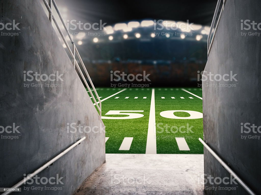 arena tunnel stock photo