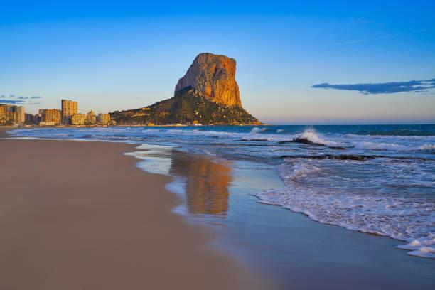 Arenal Bol beach in Calpe in Alicante stock photo