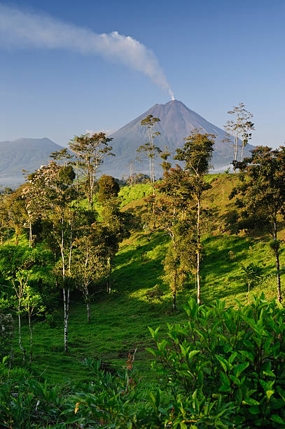 Arenal from Monterey A view of Costa Rica's Arenal volcano from a farm in Monterey arenal volcano stock pictures, royalty-free photos & images