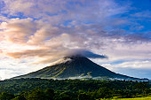 Dramatic skies over the Arenal Volcano, Costa Rica