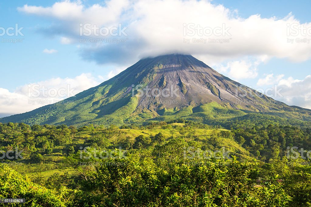 Arenal volcano. Costa Rica. stock photo