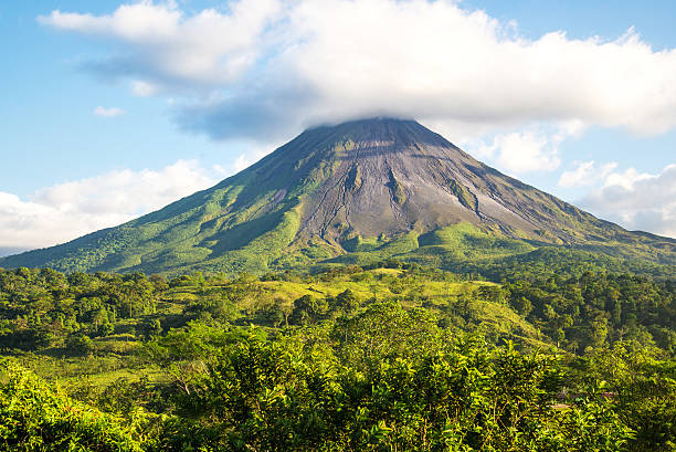 Arenal volcano. Costa Rica. Arenal volcano landscape in a sunny day. volcano stock pictures, royalty-free photos & images