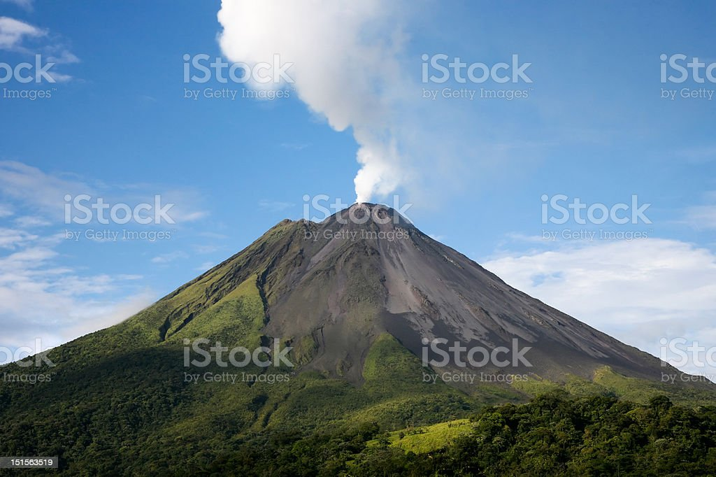 Arenal volcano in Costa Rica stock photo