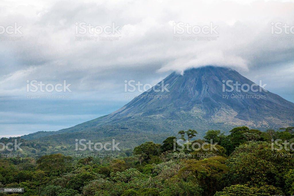 Arenal Volcano in La Fortuna, Costa Rica stock photo
