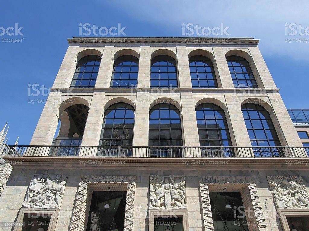 Arengario, Milan stock photo