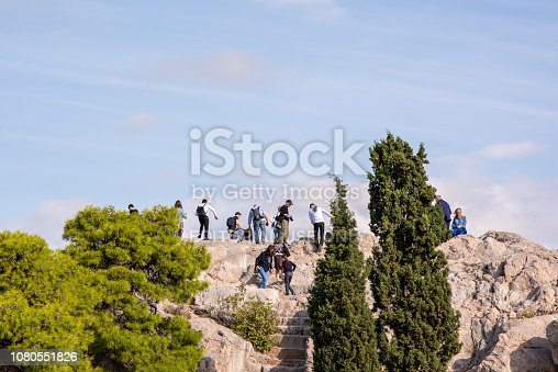 istock Areopagus Hill at the Acropolis in Athens, Greece 1080551826