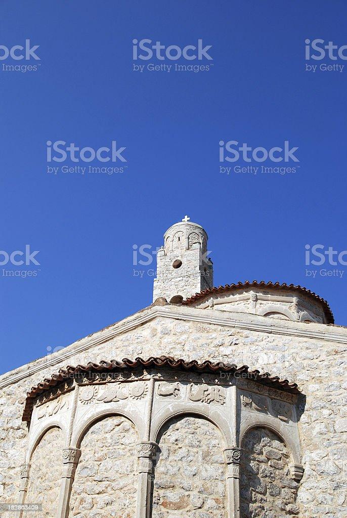 Areopoli church in Mani, Greece stock photo