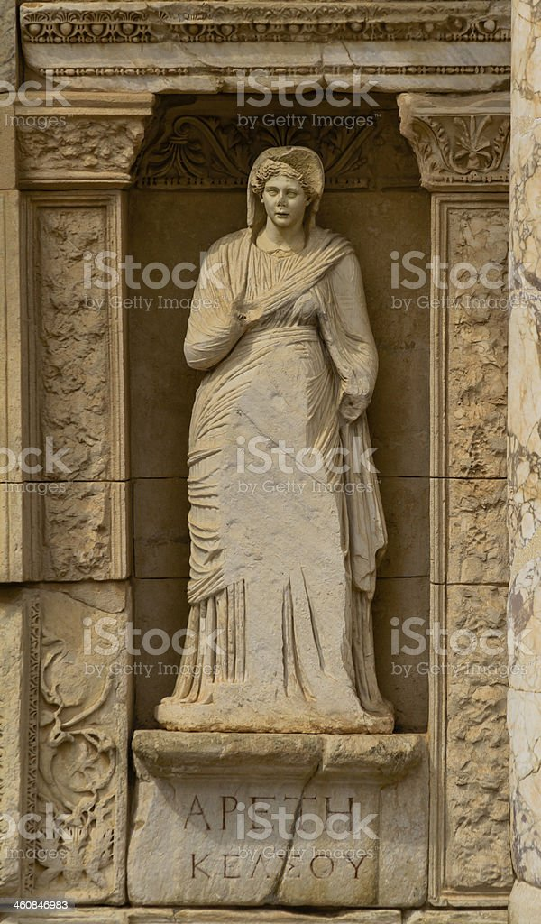 Arete in Ephesus, The Virtue stock photo
