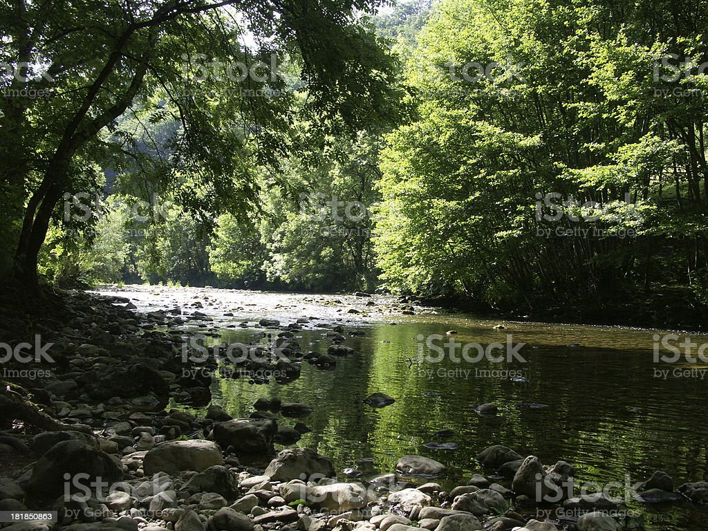 Areuse gorges stock photo