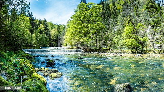 istock Areuse, River in the Neuchâtel Jura, Switzerland, Panorama 1130739032