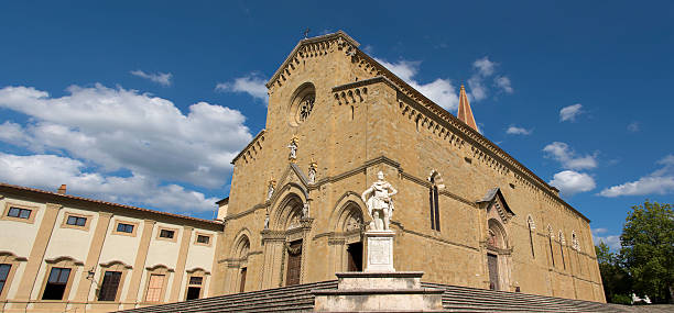 Arezzo Cathedral Panoramic view of the cathedral in Arezzo. arezzo stock pictures, royalty-free photos & images