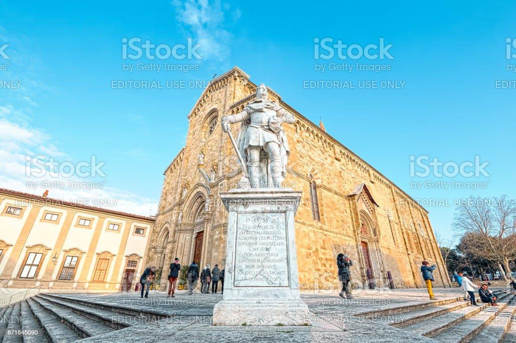 Arezzo Cathedral (Cattedrale di Ss. Donato e Pietro) - foto stock