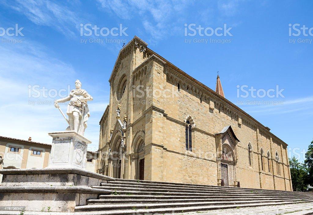 Arezzo Cattedrale, Toscana, Italia - foto stock