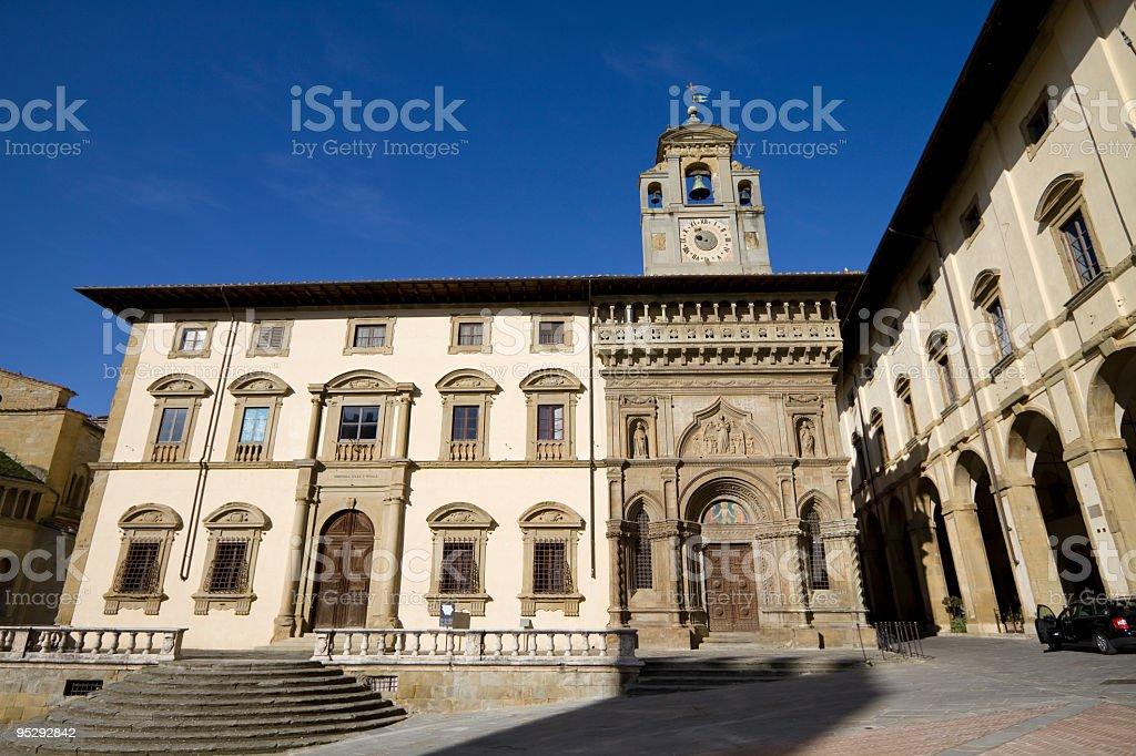Arezzo, Piazza Grande (Tuscany,Italy) royalty-free stock photo