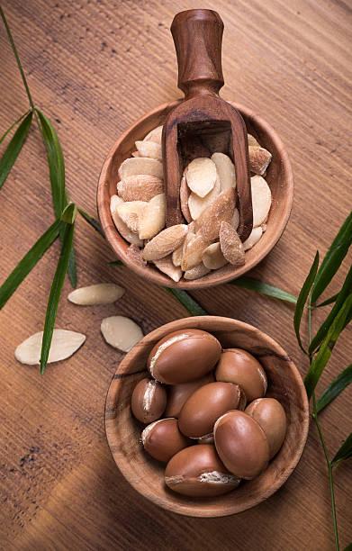 Argan fruit composition stok fotoğrafı