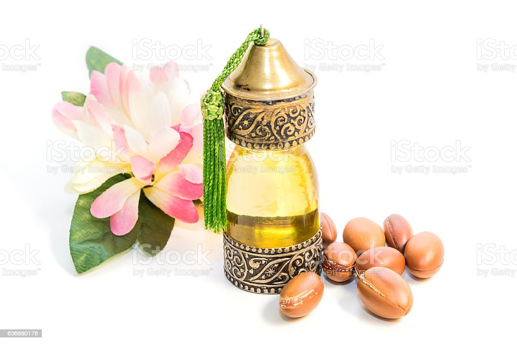 Argan oil stock photo