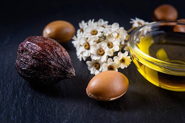 argan Samen und Obst, argan-Öl – Foto