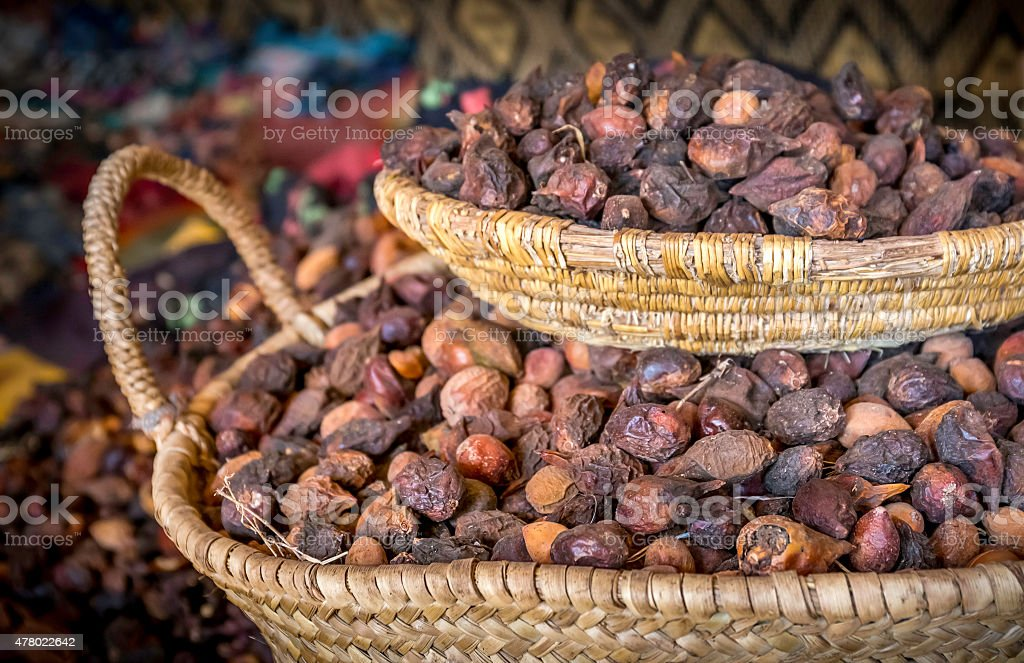 Argan seeds stock photo
