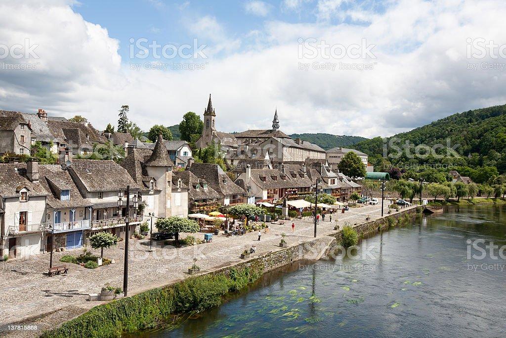 Argentat(along  Dordogne) stock photo
