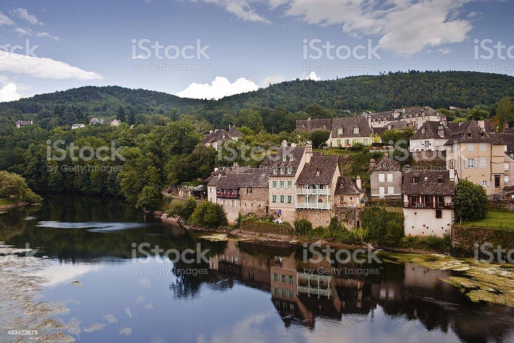 Argentat village stock photo