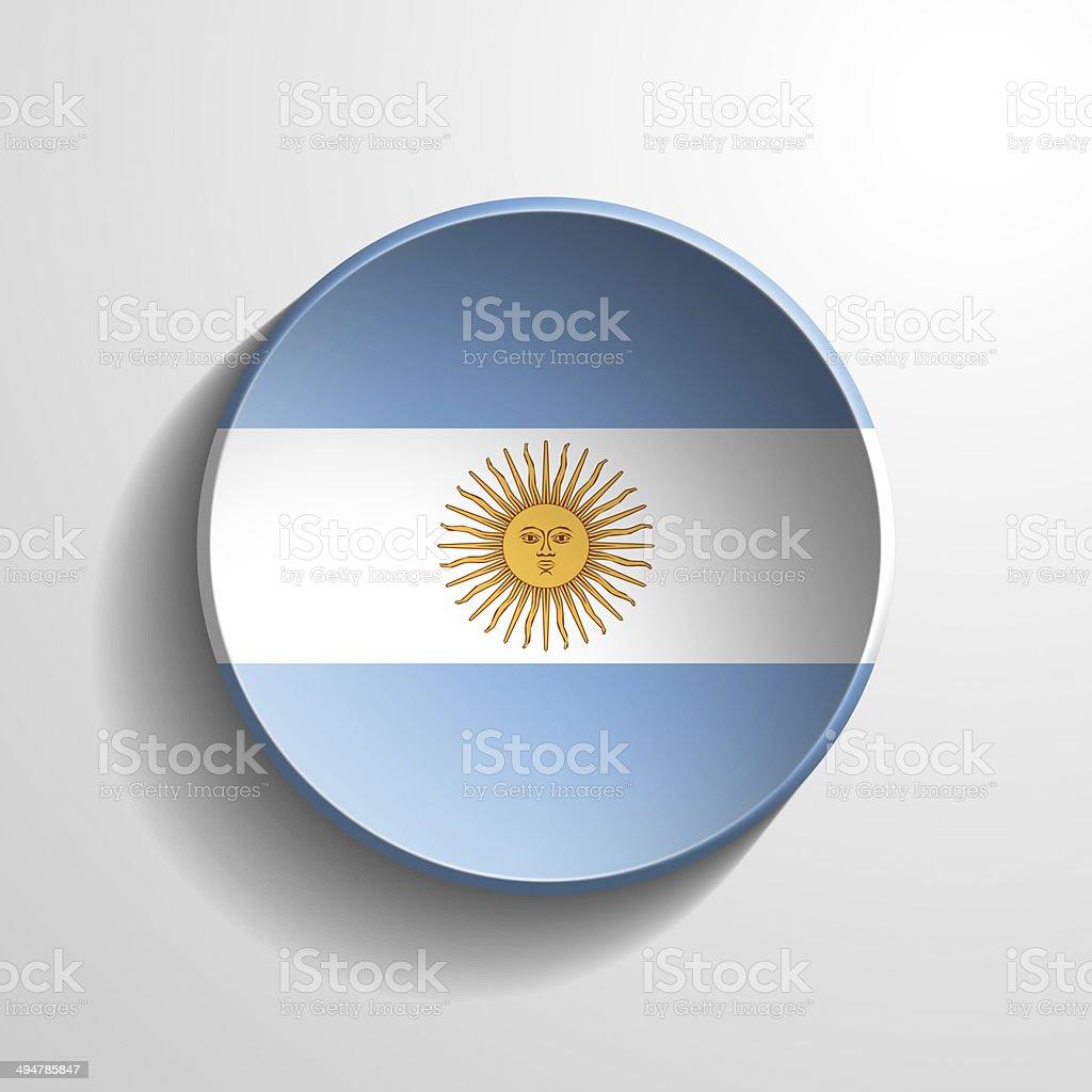 Argentina 3d Round Button stock photo